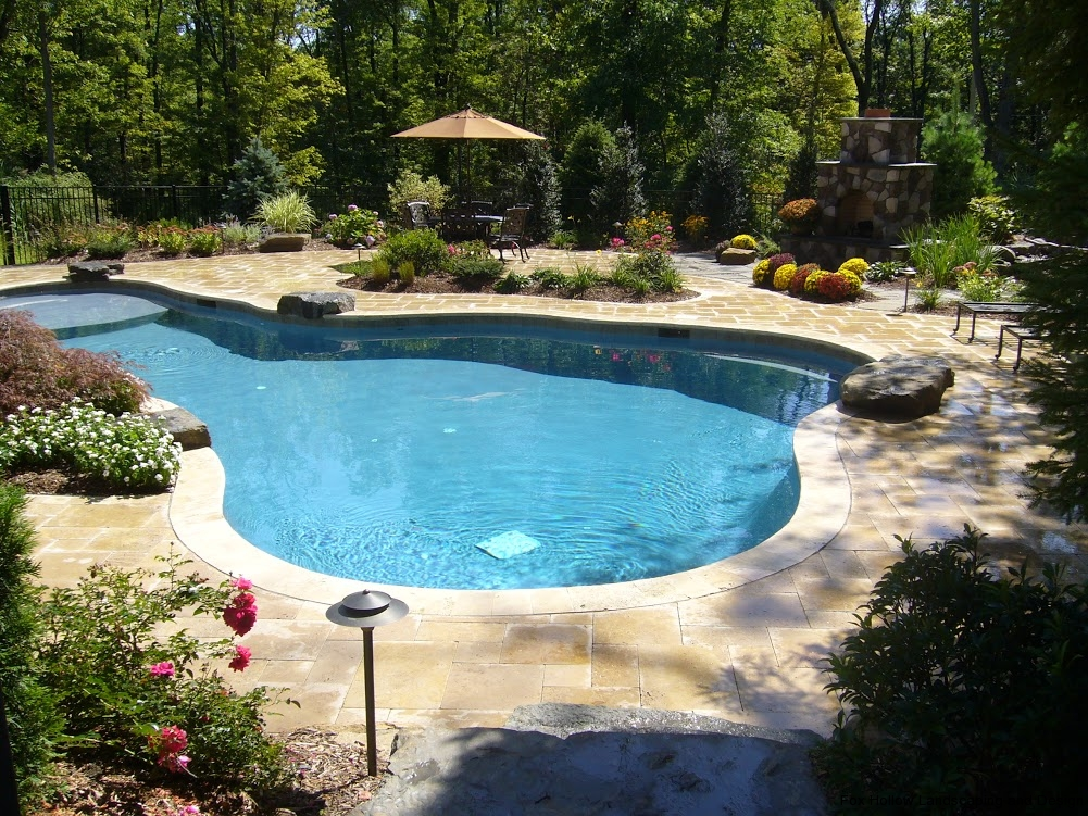 Inground pools fox hollow landscaping and design inc for Pool design inc