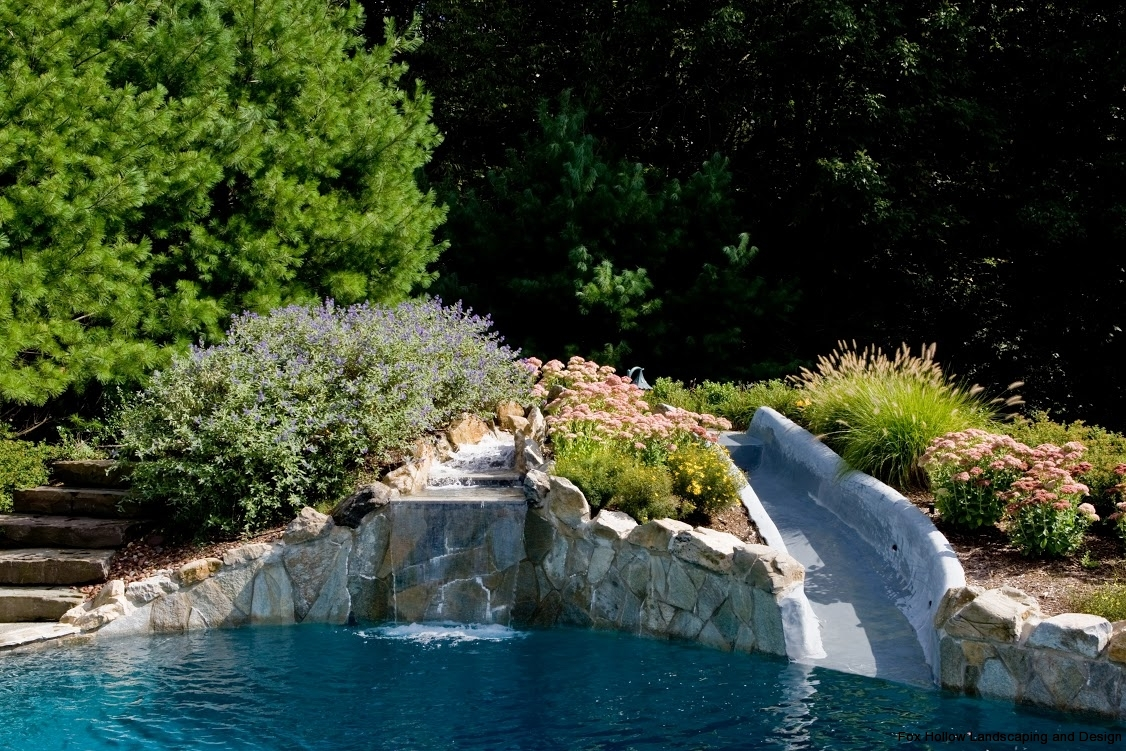 slide-pool-water-flowers-landscaping-fox-hollow-backyard-design